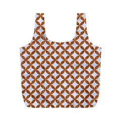 Circles3 White Marble & Rusted Metal (r) Full Print Recycle Bags (m)  by trendistuff