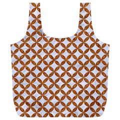 Circles3 White Marble & Rusted Metal (r) Full Print Recycle Bags (l)  by trendistuff