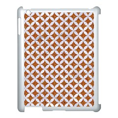 Circles3 White Marble & Rusted Metal Apple Ipad 3/4 Case (white) by trendistuff