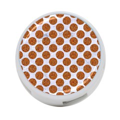 Circles2 White Marble & Rusted Metal (r) 4 Port Usb Hub (one Side) by trendistuff