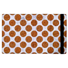 Circles2 White Marble & Rusted Metal (r) Apple Ipad 2 Flip Case by trendistuff
