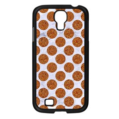 Circles2 White Marble & Rusted Metal (r) Samsung Galaxy S4 I9500/ I9505 Case (black) by trendistuff