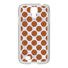 Circles2 White Marble & Rusted Metal (r) Samsung Galaxy S4 I9500/ I9505 Case (white) by trendistuff