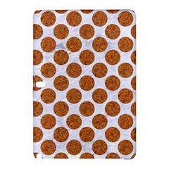 Circles2 White Marble & Rusted Metal (r) Samsung Galaxy Tab Pro 12 2 Hardshell Case by trendistuff