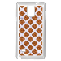 Circles2 White Marble & Rusted Metal (r) Samsung Galaxy Note 4 Case (white) by trendistuff