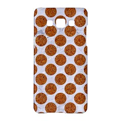 Circles2 White Marble & Rusted Metal (r) Samsung Galaxy A5 Hardshell Case  by trendistuff
