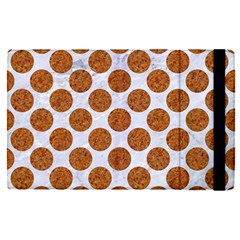 Circles2 White Marble & Rusted Metal (r) Apple Ipad Pro 9 7   Flip Case by trendistuff