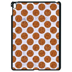 Circles2 White Marble & Rusted Metal (r) Apple Ipad Pro 9 7   Black Seamless Case by trendistuff