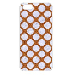 Circles2 White Marble & Rusted Metal Apple Iphone 5 Seamless Case (white) by trendistuff