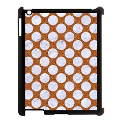Circles2 White Marble & Rusted Metal Apple Ipad 3/4 Case (black) by trendistuff