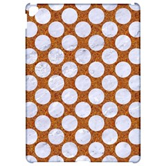 Circles2 White Marble & Rusted Metal Apple Ipad Pro 12 9   Hardshell Case by trendistuff