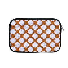 Circles2 White Marble & Rusted Metal Apple Macbook Pro 13  Zipper Case by trendistuff