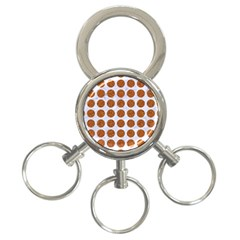 Circles1 White Marble & Rusted Metal (r) 3 Ring Key Chains by trendistuff