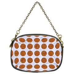 Circles1 White Marble & Rusted Metal (r) Chain Purses (one Side)  by trendistuff
