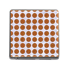 Circles1 White Marble & Rusted Metal (r) Memory Card Reader (square) by trendistuff