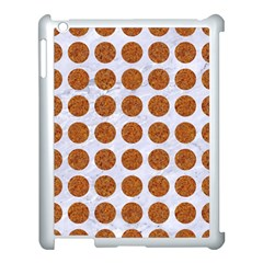 Circles1 White Marble & Rusted Metal (r) Apple Ipad 3/4 Case (white) by trendistuff