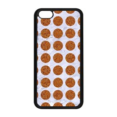 Circles1 White Marble & Rusted Metal (r) Apple Iphone 5c Seamless Case (black) by trendistuff