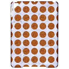 Circles1 White Marble & Rusted Metal (r) Apple Ipad Pro 9 7   Hardshell Case by trendistuff