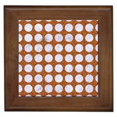 Circles1 White Marble & Rusted Metal Framed Tiles by trendistuff