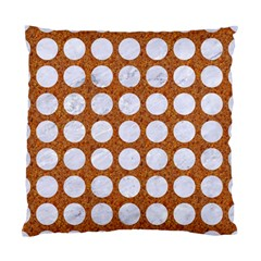 Circles1 White Marble & Rusted Metal Standard Cushion Case (two Sides) by trendistuff