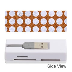 Circles1 White Marble & Rusted Metal Memory Card Reader (stick)  by trendistuff