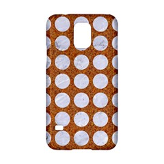 Circles1 White Marble & Rusted Metal Samsung Galaxy S5 Hardshell Case  by trendistuff