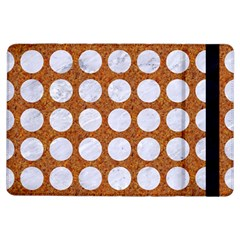 Circles1 White Marble & Rusted Metal Ipad Air Flip by trendistuff