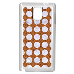 Circles1 White Marble & Rusted Metal Samsung Galaxy Note 4 Case (white) by trendistuff