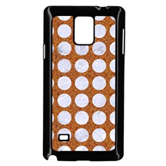 Circles1 White Marble & Rusted Metal Samsung Galaxy Note 4 Case (black) by trendistuff