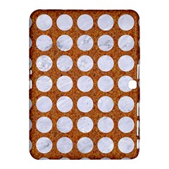 Circles1 White Marble & Rusted Metal Samsung Galaxy Tab 4 (10 1 ) Hardshell Case  by trendistuff