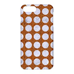 Circles1 White Marble & Rusted Metal Apple Iphone 7 Plus Hardshell Case by trendistuff