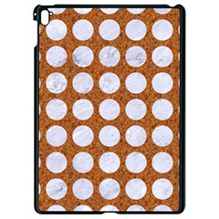 Circles1 White Marble & Rusted Metal Apple Ipad Pro 9 7   Black Seamless Case by trendistuff