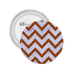 Chevron9 White Marble & Rusted Metal (r) 2 25  Buttons