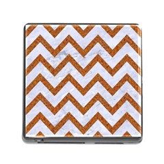 Chevron9 White Marble & Rusted Metal (r) Memory Card Reader (square) by trendistuff