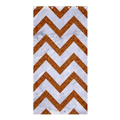 Chevron9 White Marble & Rusted Metal (r) Shower Curtain 36  X 72  (stall)  by trendistuff