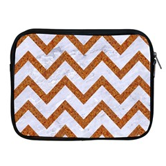 Chevron9 White Marble & Rusted Metal (r) Apple Ipad 2/3/4 Zipper Cases by trendistuff