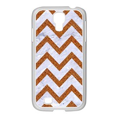 Chevron9 White Marble & Rusted Metal (r) Samsung Galaxy S4 I9500/ I9505 Case (white) by trendistuff