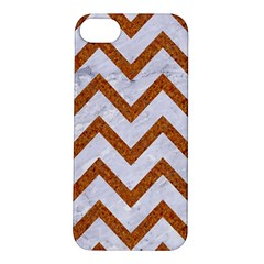 Chevron9 White Marble & Rusted Metal (r) Apple Iphone 5s/ Se Hardshell Case by trendistuff