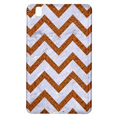 Chevron9 White Marble & Rusted Metal (r) Samsung Galaxy Tab Pro 8 4 Hardshell Case by trendistuff