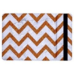 Chevron9 White Marble & Rusted Metal (r) Ipad Air Flip by trendistuff