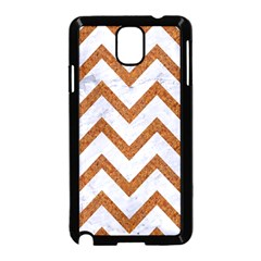 Chevron9 White Marble & Rusted Metal (r) Samsung Galaxy Note 3 Neo Hardshell Case (black) by trendistuff