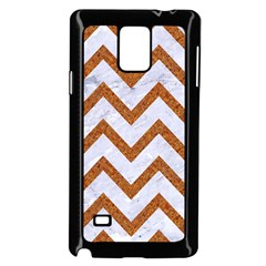 Chevron9 White Marble & Rusted Metal (r) Samsung Galaxy Note 4 Case (black) by trendistuff