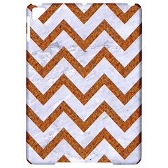 Chevron9 White Marble & Rusted Metal (r) Apple Ipad Pro 9 7   Hardshell Case by trendistuff