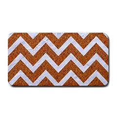 Chevron9 White Marble & Rusted Metal Medium Bar Mats
