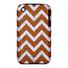 Chevron9 White Marble & Rusted Metal Iphone 3s/3gs by trendistuff