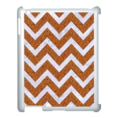 Chevron9 White Marble & Rusted Metal Apple Ipad 3/4 Case (white) by trendistuff