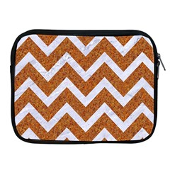 Chevron9 White Marble & Rusted Metal Apple Ipad 2/3/4 Zipper Cases by trendistuff