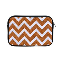 Chevron9 White Marble & Rusted Metal Apple Ipad Mini Zipper Cases by trendistuff