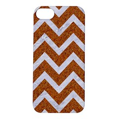 Chevron9 White Marble & Rusted Metal Apple Iphone 5s/ Se Hardshell Case by trendistuff