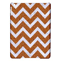 Chevron9 White Marble & Rusted Metal Ipad Air Hardshell Cases by trendistuff